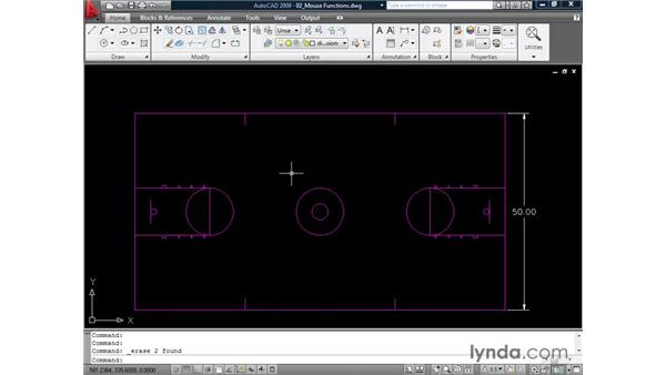 Exercising mouse functions: AutoCAD 2009 Essential Training