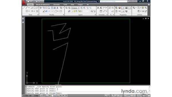 Drawing lines : AutoCAD 2009 Essential Training