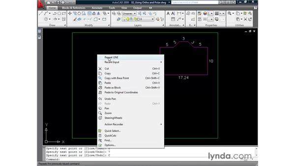 Maintaining accuracy with the Ortho and Polar modes: AutoCAD 2009 Essential Training