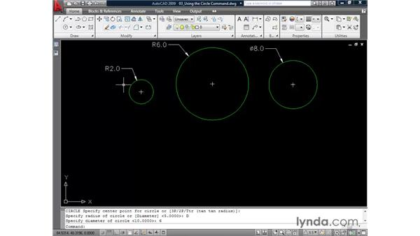 Drawing circles: AutoCAD 2009 Essential Training