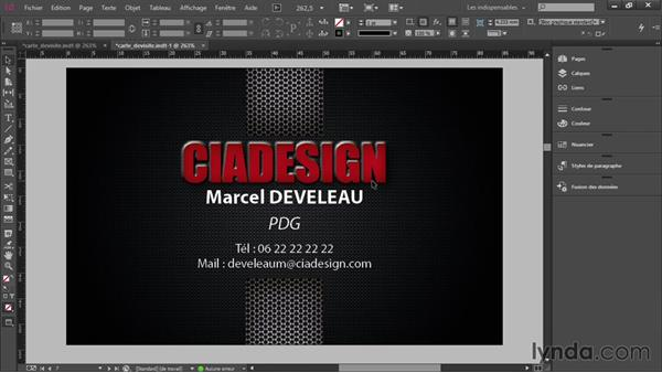Conclure Sur La Creation Dune Carte De Visite Professionnelle Avec InDesign CC