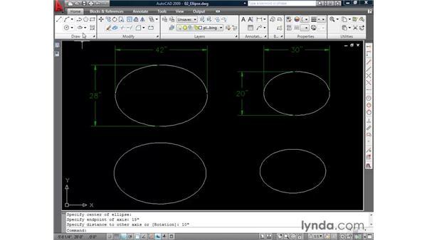Drawing ellipses: AutoCAD 2009 Essential Training