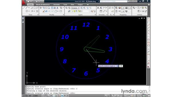 Rotating elements: AutoCAD 2009 Essential Training