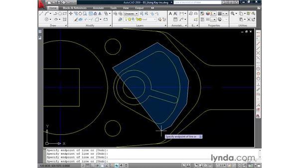 Using key-ins: AutoCAD 2009 Essential Training