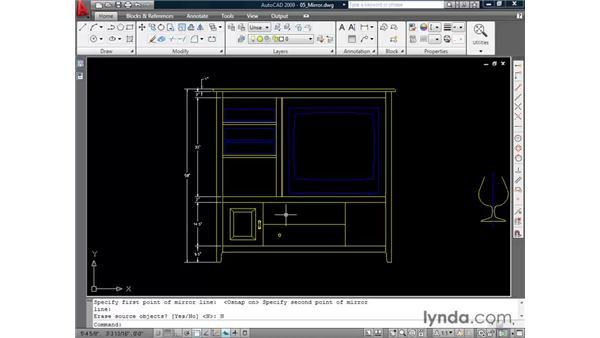 Creating mirror images: AutoCAD 2009 Essential Training