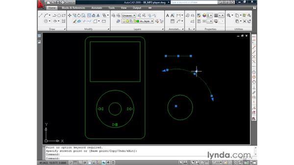 Leveraging grips: AutoCAD 2009 Essential Training