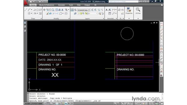 Justifying text: AutoCAD 2009 Essential Training