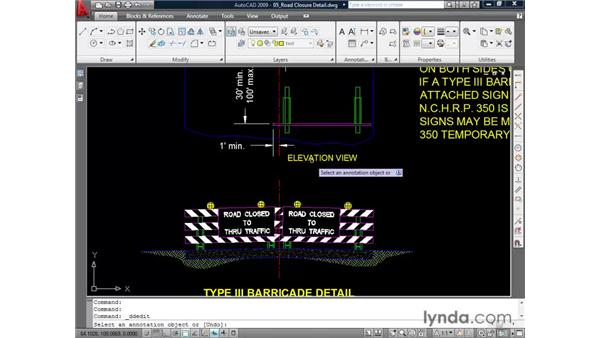 Editing text: AutoCAD 2009 Essential Training