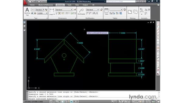 Creating dimensions: AutoCAD 2009 Essential Training