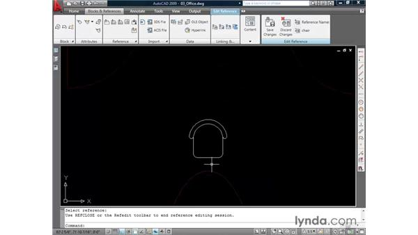 Redefining blocks: AutoCAD 2009 Essential Training