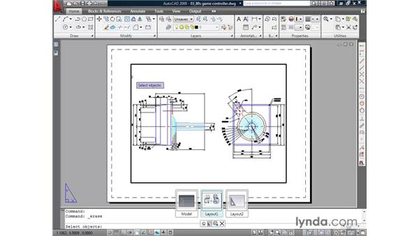 Using layouts pt. 1: Choosing paper size: AutoCAD 2009 Essential Training