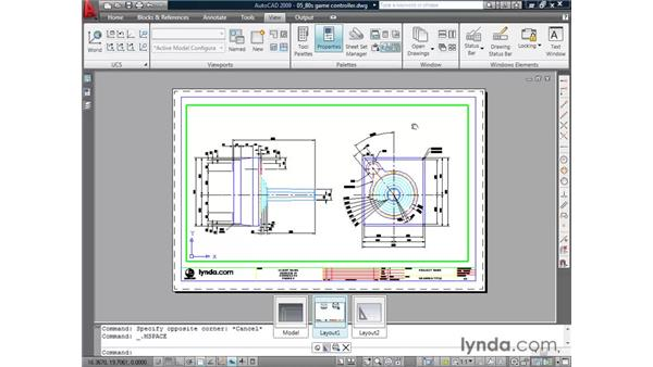 Using layouts pt. 3: Cutting viewports: AutoCAD 2009 Essential Training