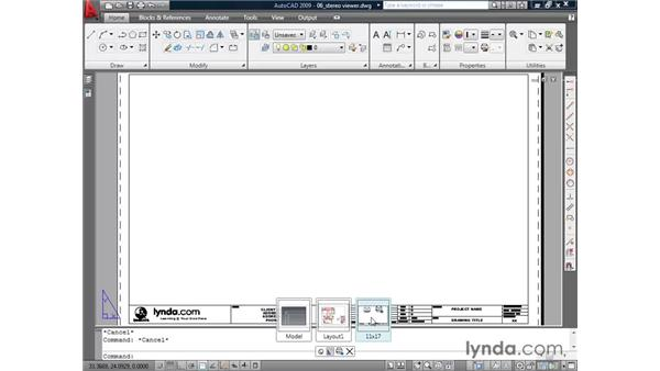 Importing layouts: AutoCAD 2009 Essential Training