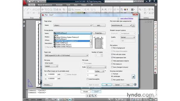 Plotting to the Design Web Format: AutoCAD 2009 Essential Training