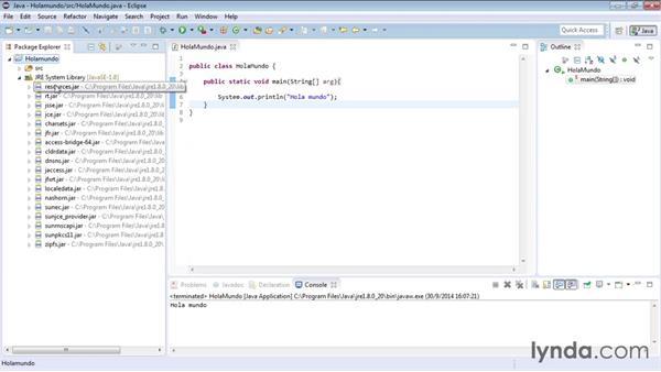 Estructura De Un Proyecto De Java