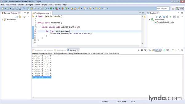 Estructura For De Java