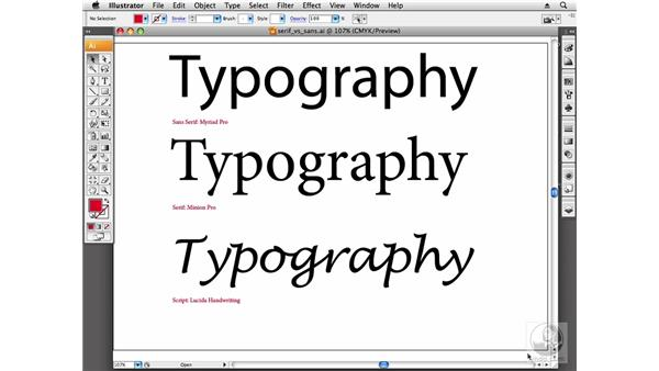 Choosing the right typeface for the message: Designing a Logo