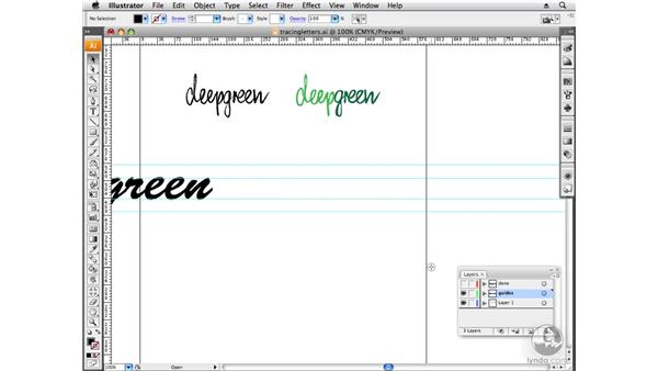 Tracing hand-drawn type: Designing a Logo