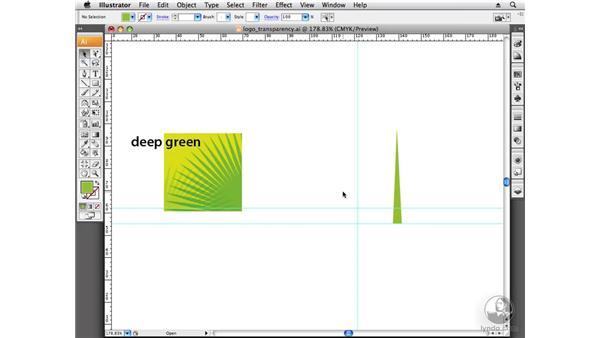 Using transparency: Designing a Logo