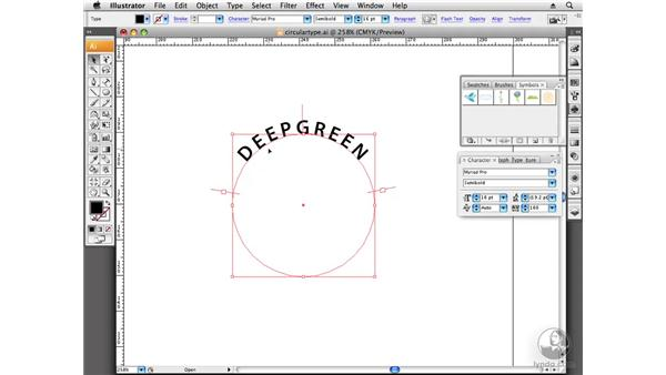 Creating type around a circle: Designing a Logo