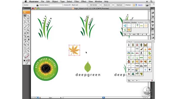 Working with clip art: Designing a Logo