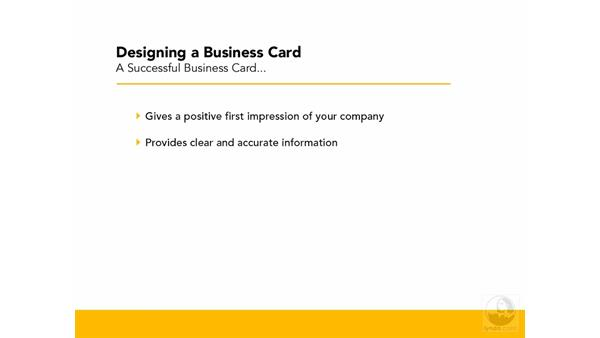 Creating a successful business card: Designing a Business Card With Illustrator CS3