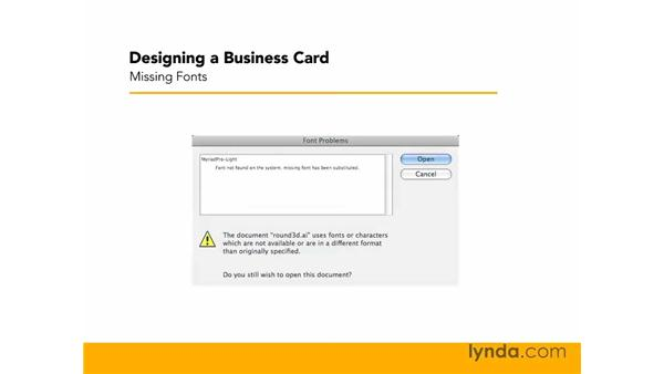Exercise files: Designing a Business Card With Illustrator CS3
