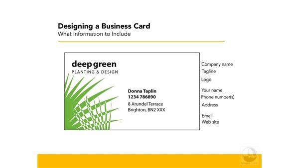 What to include: Designing a Business Card With Illustrator CS3