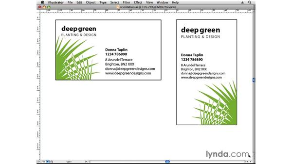Selecting orientation: Designing a Business Card With Illustrator CS3