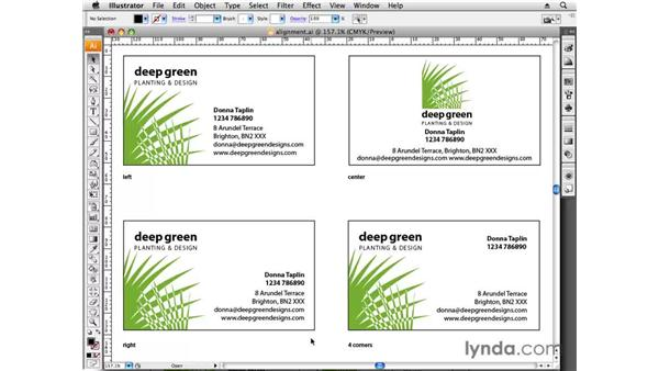 Choosing alignment: Designing a Business Card With Illustrator CS3