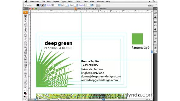 Using color : Designing a Business Card With Illustrator CS3
