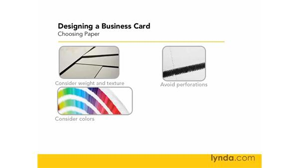 Choosing paper: Designing a Business Card With Illustrator CS3