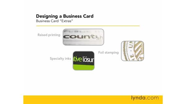 Printing extras: Designing a Business Card With Illustrator CS3