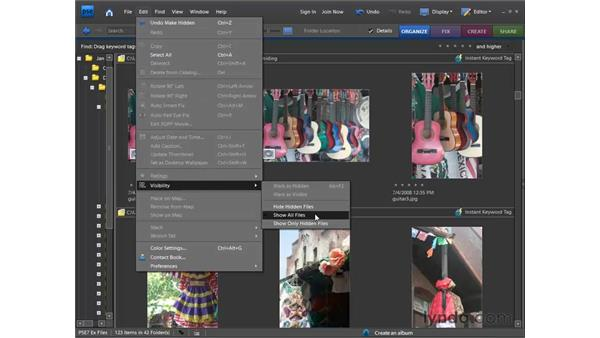 Hiding and deleting photos: Photoshop Elements 7 for Windows Essential Training
