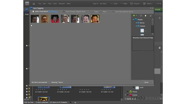 Tagging face photos: Photoshop Elements 7 for Windows Essential Training