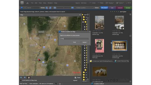 Using Map view: Photoshop Elements 7 for Windows Essential Training