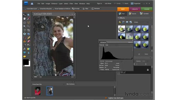 Touring the Full Edit interface: Photoshop Elements 7 for Windows Essential Training