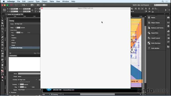 Converting InDesign animations to HTML using in5: Adobe Digital Publishing Suite Essential Training