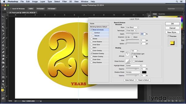 Creating a Photoshop 25th anniversary sign: Pixel Playground