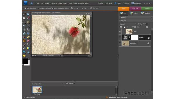 Using layer masks: Photoshop Elements 7 for Windows Essential Training