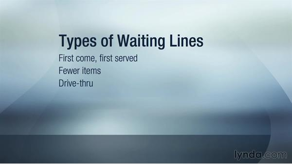 Types of waiting lines: Operations Management Fundamentals