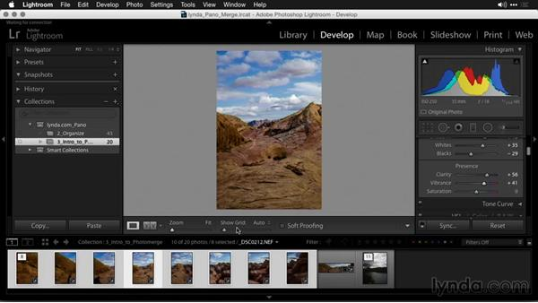 How Lightroom's tool is different from Photoshop's Photomerge: Creating Panoramas with Lightroom