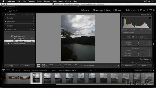 Required metadata and properties to merge: Creating Panoramas with Lightroom