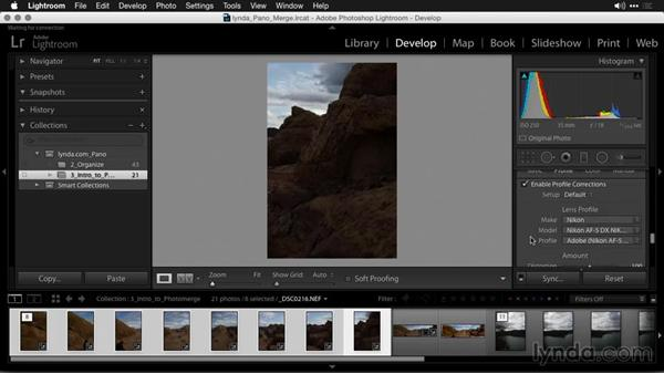 When should you develop a panoramic image?: Creating Panoramas with Lightroom