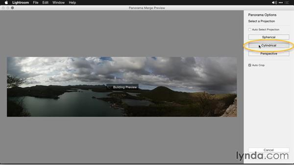 Analyzing the preview image: Creating Panoramas with Lightroom