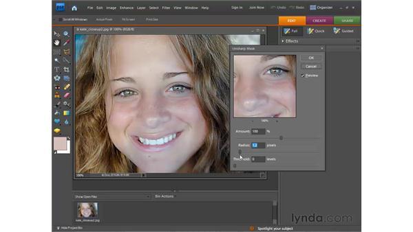 Sharpening photos: Photoshop Elements 7 for Windows Essential Training
