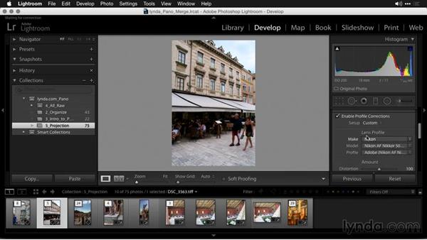 The Perspective method: Creating Panoramas with Lightroom