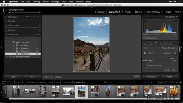 The Cylindrical method: Creating Panoramas with Lightroom