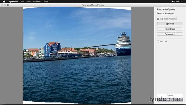 Viewing progress in the Activity Center: Creating Panoramas with Lightroom