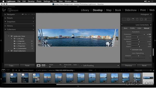 Finishing the HDR panoramic photo: Creating Panoramas with Lightroom